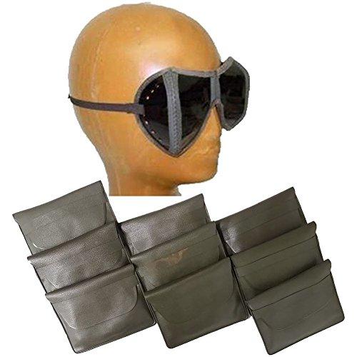 Armeeverkauf 10 St gebrauchte Bundeswehr NATO Faltbrillen Brillen Etui praktisch Sonnenbrille