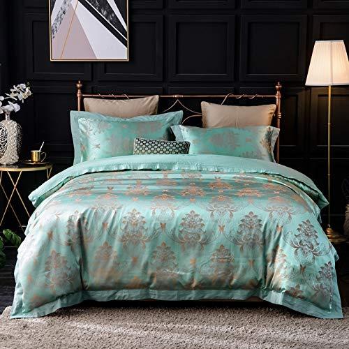 MINMINA Baumwolle vierteilig Neue Tencel vierteilig satiniert Jacquard vierteilig vierteilige Einzelbett aus Baumwolle auf Vier Sätzen von 1,8 m Bett, Musikkapitel -1,8 m Bett - Satiniert Mit Streifen