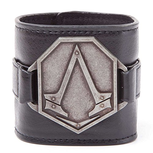 Assassins Creed Wristband Creed Metal Logo Official PS4 Xbox Brown One Size