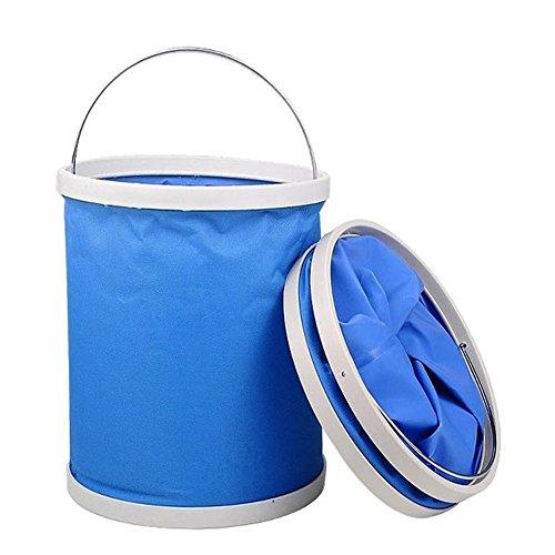 Meipro-Oxford-Tuch-Skalierbare-Faltbare-Bequeme-Wasser-Eimer-9Liter-fr-Camping-Auto-waschen-Angeln-Wandern-Strandblau