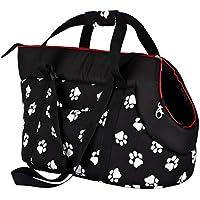 Hobbydog Tor cwl3Bolsa para perros y gatos, 27x 25x 43cm, color negro con huellas