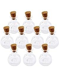 Mini Corcho Cristal Botella Xo Winebottle Frascos Viales Desean Botella Nota Del Amor 10pc
