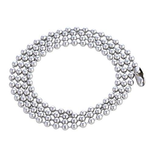 DonDon Herren Halskette Edelstahl Kugelkette 60 cm Silber