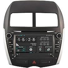 Witson® para 201120122013Mitsubishi ASX Indash reproductor de DVD con GPS Sat Nav Navegación Digital HD capacitiva pantalla táctil/iPod control/manos libres Bluetooth/control del volante