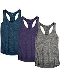 2e2ac20f94f47 icyzone Camiseta de Fitness Deportiva de Tirantes para Mujer