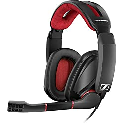 [Cable] Sennheiser GSP 350 - Microauricular cerrado para gaming, color negro y rojo
