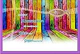 metALUm Premium Grußkarte zur Kommunion'Buntes Holz'