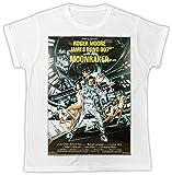 Uk print king Roger Moore James Bond 007 moonraker Movie Poster Cooler Spruch, Slogan, Lustiges Design, Geschenkidee