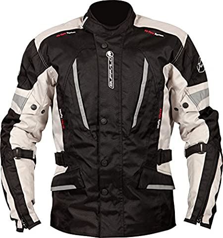 BJCYCL52ME - Buffalo Cyclone Motorcycle Jacket M Black Stone