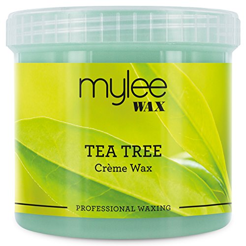 Mylee Tea Tree Soft Creme Wax for Sensitive Skin 450g, Microwavable & Wax Heater Friendly, Ideal for All Body Area Stubborn Coarse Hair Removal