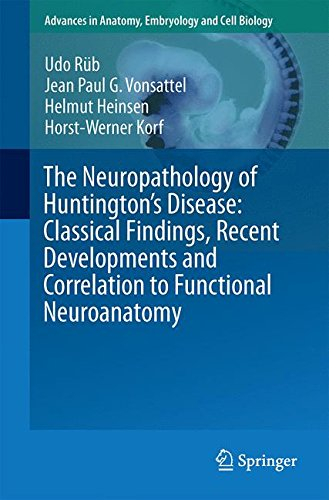 The Neuropathology of Huntington's Disease: Classical Findings, Recent Developments and Correlation to Functional Neuroanatomy (Advances in Anatomy, Embryology and Cell Biology, Band 217) -