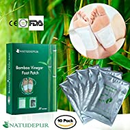 NATUDEPUR® Detox Foot Patches, Detox Foot Pads 100% Natural Organic - Remove Body Toxins, Detox Cleanse Weight Loss, Sleep Aid, Stress Relief, Metabolism Booster, Pain Relief, Foot Care, Anti Swelling