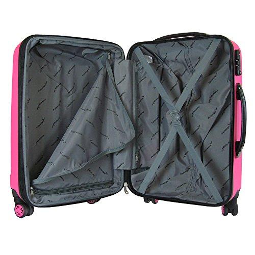Packenger 501/24-003P-15 Koffer, 62 cm, 60 Liter, Magenta - 2