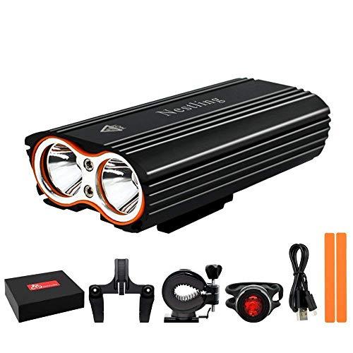 Lospu HY Fahrrad-vorderes Licht, super helles wasserdichtes Fahrradlicht, USB aufladbare 2400 Lumen führten Zykluslicht, Sicherheits-LED-Taschenlampe für das Radfahren, Pendeln, Reiten zu installieren