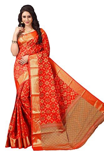 Urban India Party wear Orange Patola Silk Saree - SE00141001A