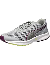 Puma Descendant V4 Wn'Sneaker S, Plata Quarry// Purple Magenta, 3,5