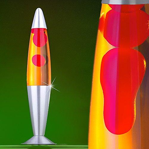 MIA Light Lavalampe ↥425mm  Gelb & Rot   Retro   Lavaleuchte Magmalampe Magmaleuchte Lavalicht