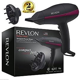 revlon pro ac tempest - 51X53Fy19cL - Revlon Pro AC Tempest Power Hair Dryer RVDR5821DUK with Diffuser 2000 Watt