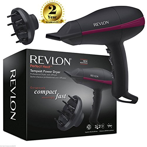 revlon pro ac tempest - 51X53Fy19cL - Revlon Pro AC Tempest Power Hair Dryer RVDR5821DUK with Diffuser 2000 Watt