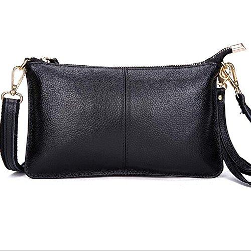 Mynos echtes Leder Reißverschluss Vintage Kleine Frauen Crossbody Geldbörse Tasche