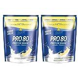 Inko Active Pro 80 Proteinshake 2 Beutel (2 x 500g = 1kg) Citrus-Quark & Mirabelle-Mascarpone
