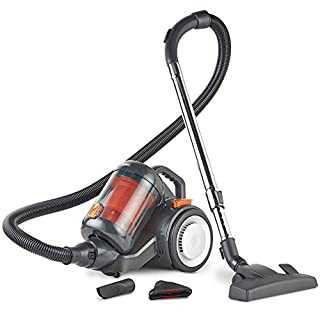 VonHaus 700W 2.5L Bagless Cylinder Vacuum Cleaner – Powerful Suction, Long 6m Power Cable, HEPA Filtration & Cyclonic Technology