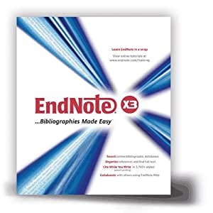 EndNote X3 for Macintosh (OS X)