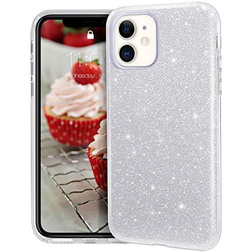 MATEPROX iPhone 11 Custodia Trasparente Cover Ragazze Sottile e Sottile Lucida Glitter Scintillante Custodia per iPhone 11 6.1 inch