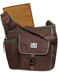Diaper Dude Sport Bag By Chris Pegula Brown Sling Messenger Diaper Bag By Dd Sport