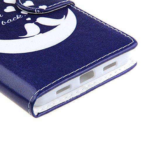 Coque pour Huawei P8 Lite, ISAKEN Élégant Style PU Cuir Flip Magnétique Portefeuille Etui Housse de Protection Coque Étui Case Cover avec Stand Support pour Huawei P8 Lite 5 Pouces (#9) #26