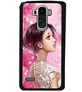 Fuson Premium Gorgeous Girl Metal Printed with Hard Plastic Back Case Cover for LG G4 Stylus