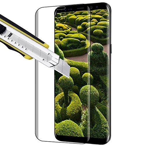 Protector de Pantalla Samsung Galaxy S8 Plus,Vicksongs Galaxy S8 Plus Cristal Templado 3D Full Coverage Transparencia Total Vidrio Templado Screen Protector para Samsung Galaxy S8 Plus