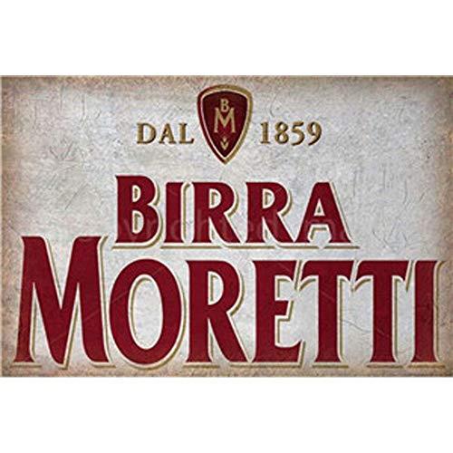 FlowerBeads Hot Rod Garage Vintage Retro Metall Poster 1859 Birra Moretti Blechschilder - 20 x 30 cm -