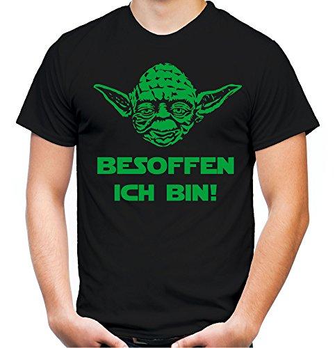 Preisvergleich Produktbild Yoda Spruch T-Shirt | Star Wars | lustige | Darth | Zitate | Sith | Vader | Männer | Herren | Fun | Kult | Film | Besoffen (M, Schwarz)