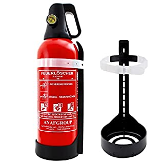 Feuerlöscher 2L ABF Fettbrand Schaum Kombi-Löscher DIN EN3 - sehr handlich - mit KFZ Halter + ANDRIS® Prüfnachweis & ISO Symbolschild