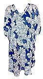 SUNROSE White N Blue Allover Floral Prin...