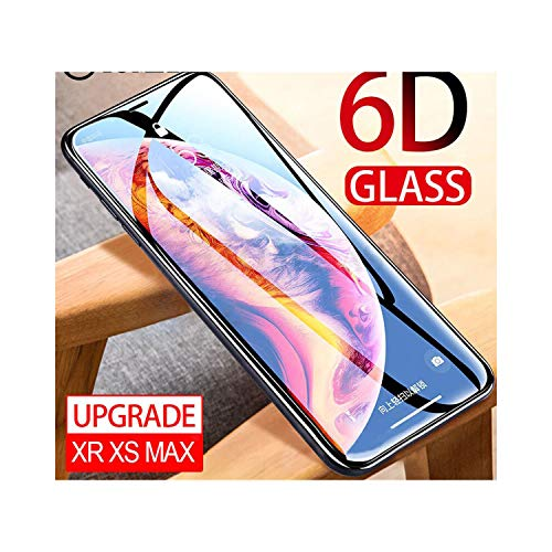LZHANDA Schutzfolie Gehärtetem Glas panzerglas 6D Protective Glass On The for iPhone 7 6 XS Max Screen Protector Full Cover Curved Glass for iPhone 6 S 7 8 Plus X 10 XR for iPhone 6 Plus White - Xl Screen 6 Protector Iphone