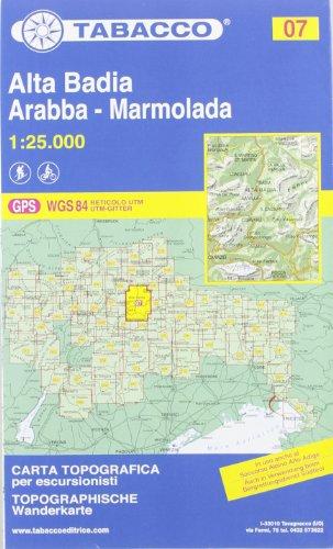 Alta Badia. Arabba. Marmolada 1:25.000