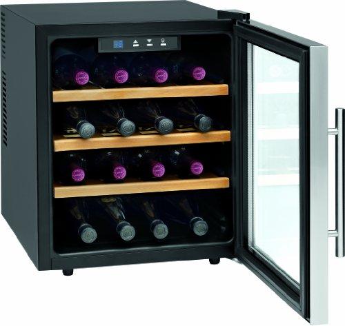ProfiCook PC-WC 1047 Weinkühlschränke / EEK A / 131 kWh/Jahr / 46 L Nutzinhalt / Flaschenkapazität: 16 à 0.75 L / Bedienfeld mit LED-Display / inox