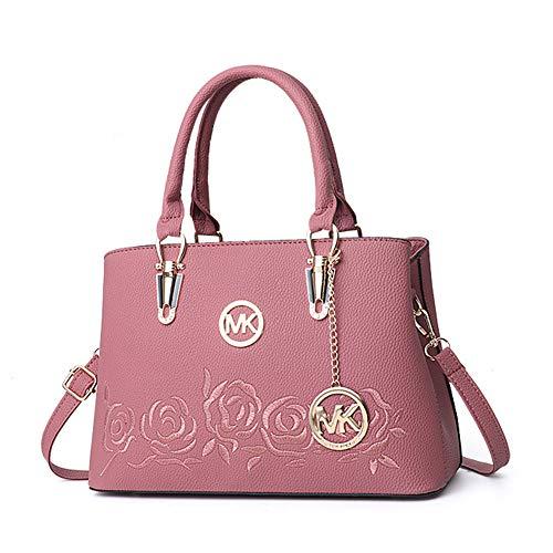 QBWZ 2018 neue Frauen-Handtasche Damen Casual Bag Messenger Bag Schulter,pebbledred,31 * 14 * 20 * 15cm (Messenger Schulter Tasche Rucksack)
