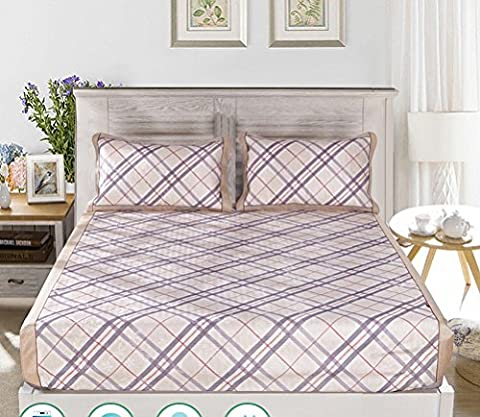 Bed Linen Ice Silk Mat 8m Bed Can Be Washed Folding Summer Season 1.5 M Air Conditioning Soft Mat Three-piece 2.0,Pattern