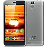 "Oukitel K6000 Pro - Smartphone móvil libre Android 6.0 (Pantalla 5.5"", 32GB ROM, 3GB RAM, Octa-Core, 13MP Cámara, Lector de huellas dactilares, Resolución 1080 x 1920 HD), Gris"