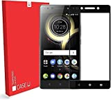 #4: K8 Note Tempered Glass, Case U Lenovo K8 Note Full Coverage Tempered Glass Screen Protector - Black Rim
