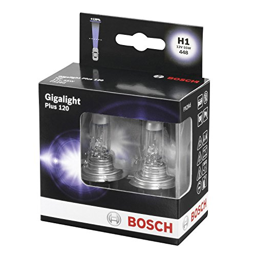 BOSCH 1987301105 Gigalight Plus 120 Xenon Bulb H1 / 12 V / 55W / P14, 5s / 2 Set