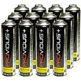 Pack de 12 cartouche gaz 330g butane propane mix - bouteille de gaz à valve 600 ml - bonbonne pour désherbeur thermique à vis