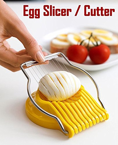 GKP PRODUCTS Boiled Egg Slicer Cutter Chopper Plastic with Stainless Steel Wired Model 321650
