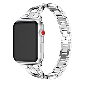 FENGT Iwatch Metallband Für Apple Strap 3/2/1 Apple Smartwatch O-Förmiges Strassmetallband Zubehör Iwatch Band 38 Mm / 42 Mm