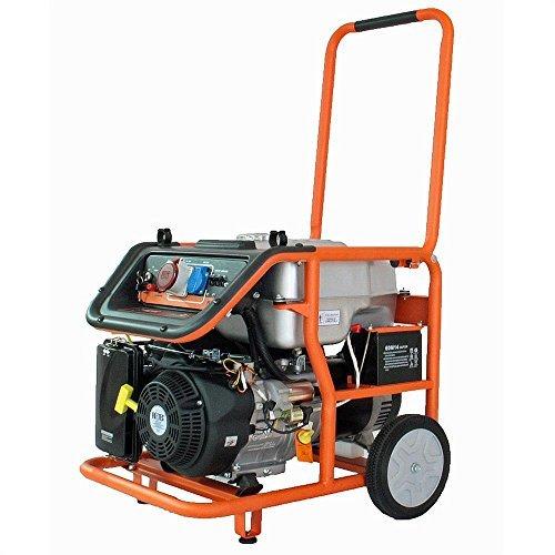 Benzin Stromerzeuger FX-SG7500B mit Elektrostart, 6500 Watt Leistung, 16 PS 4-Takt Motor mit 420cc Hubraum - 380V und 230V Anschluss
