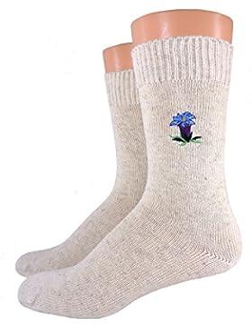 Damen/ Herren Bio Socken bestickt