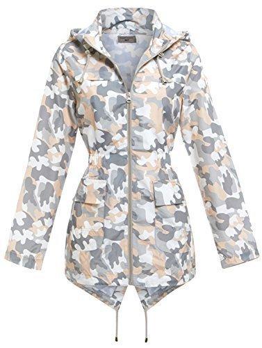"""SS7 Damen Fest Regenmantel,sizes 8 to 16 - grau/Pfirsich, 38 - Wasserabweisend mit Fischschwanz - abnehmbare Kapuze Regenmantel - elastisch Taille Länge 28 """" - wasserabweisend Hülle - 100% Polyester - 2 tiefe Taschen vorne"""